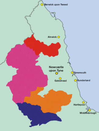 Northumbrian Water map