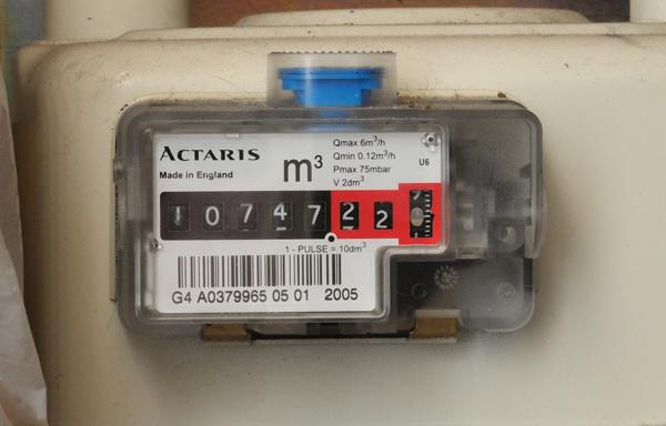 Analogue gas meter
