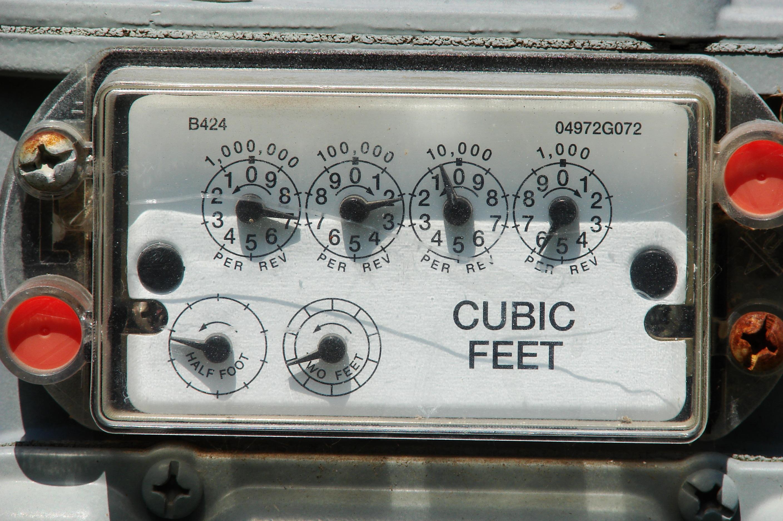 Dial gas meter