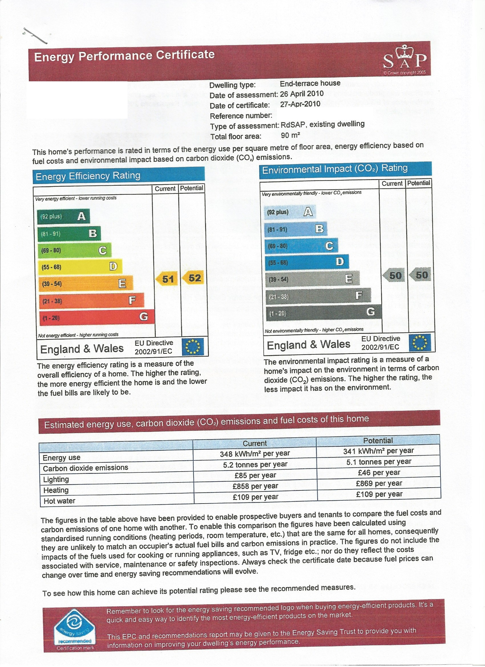 Energy Performance Certificate Example