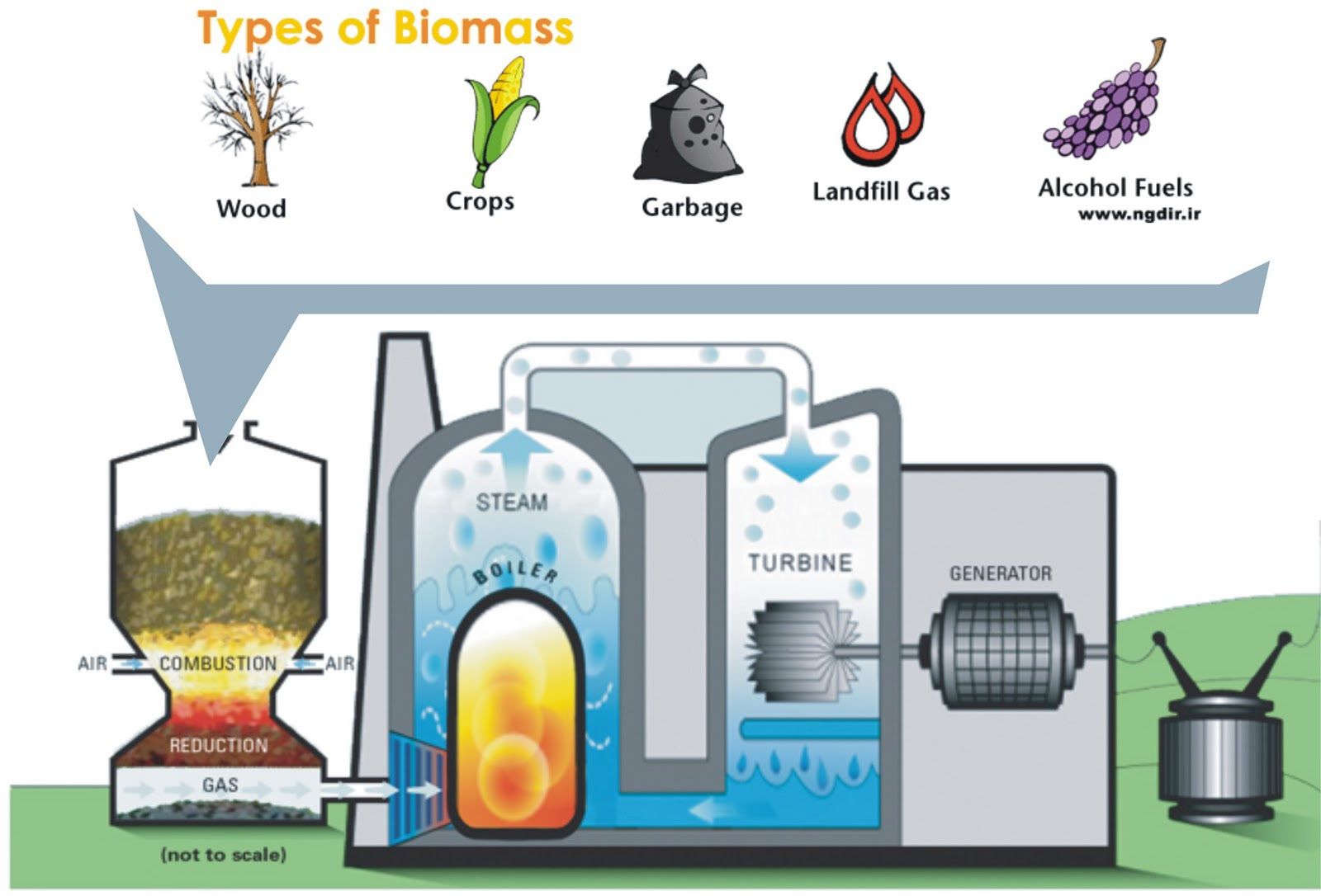 Biomass energy diagram