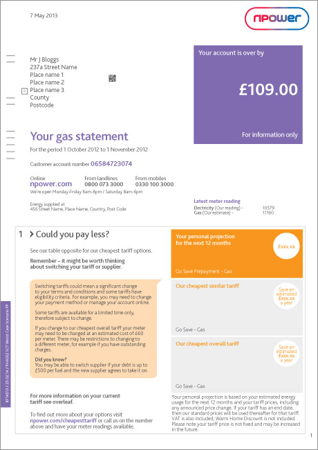 Npower Meter Readings – Payment Options when Moving Home