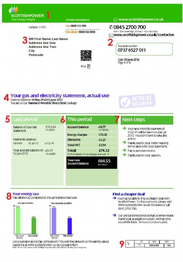 ScottishPower Meter Readings and Bill Payment Options ...